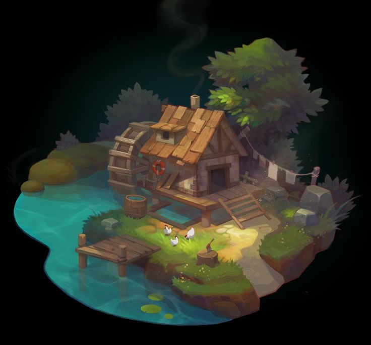 Bamboo Hut Concept Art
