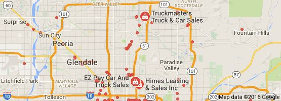 Map of used auto sales 85016