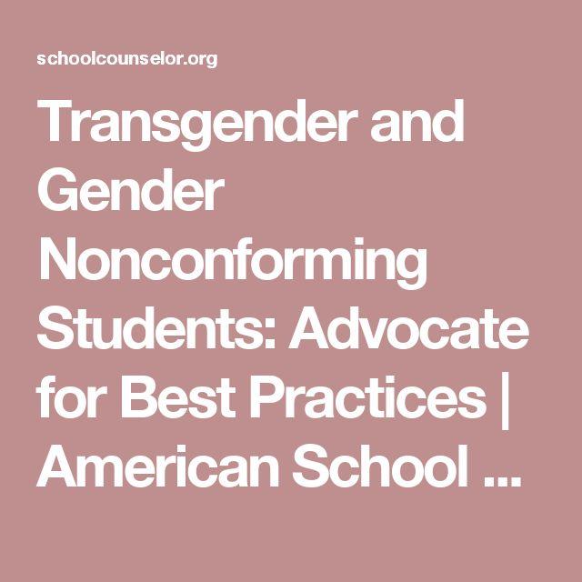 best practices transgender student