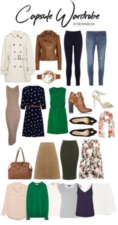 sample capsule wardrobe for transitional / spring weather