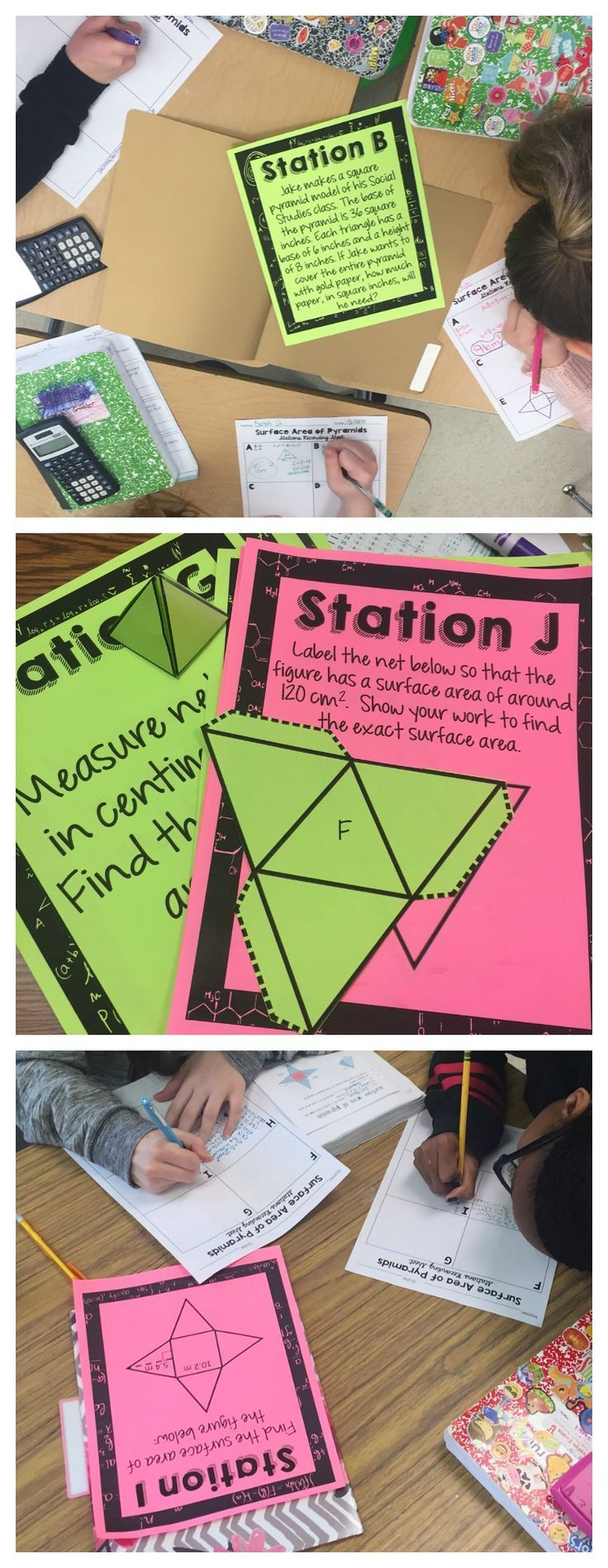 Surface Area Of Prisms And Pyramids Stations