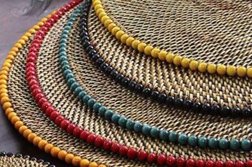 Woven Beaded Placemat