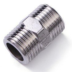 Hexagon Nipple 1/2 Inch 304 Male NPT Stainless Steel Pipe Fitting