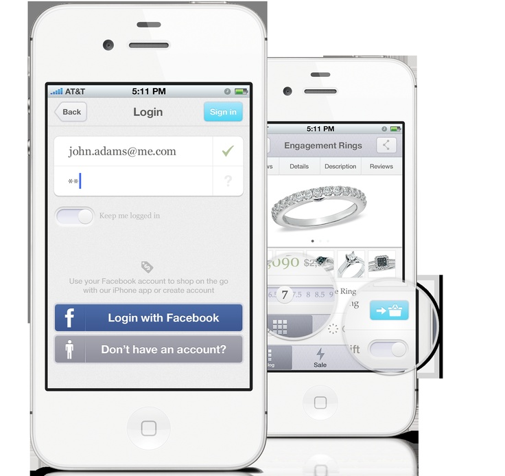 Jewelry Store iPhone Application
