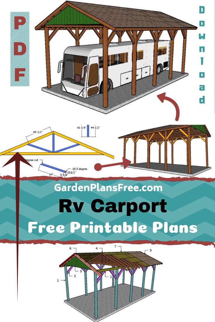 20×40 RV Carport Plans Free PDF Download Carport plans