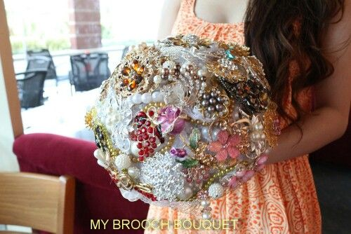 Call it awesome full brooch bouquet