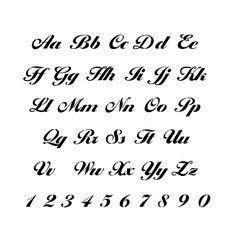 Monogramm-Alphabet-Schablone… #alphabet #monogram #stencil