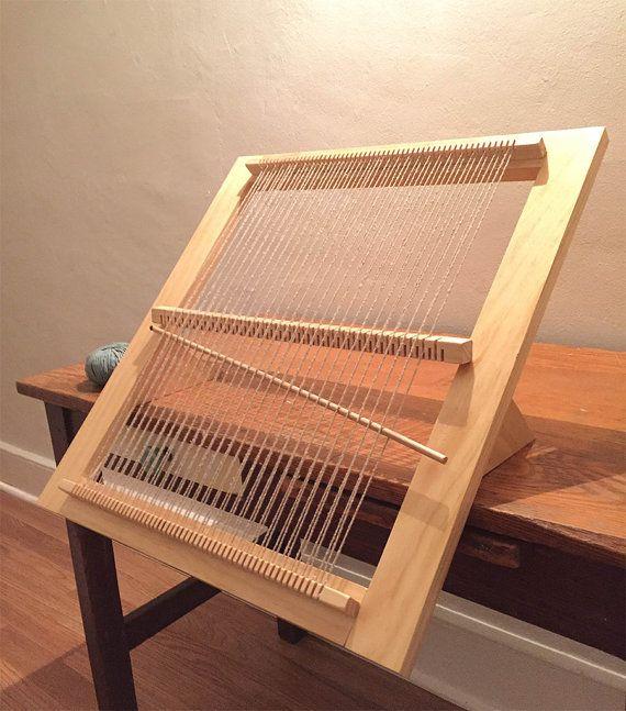 Weaving Loom Kit 3-Position Weaving Loom by WoodandSpoolStudio