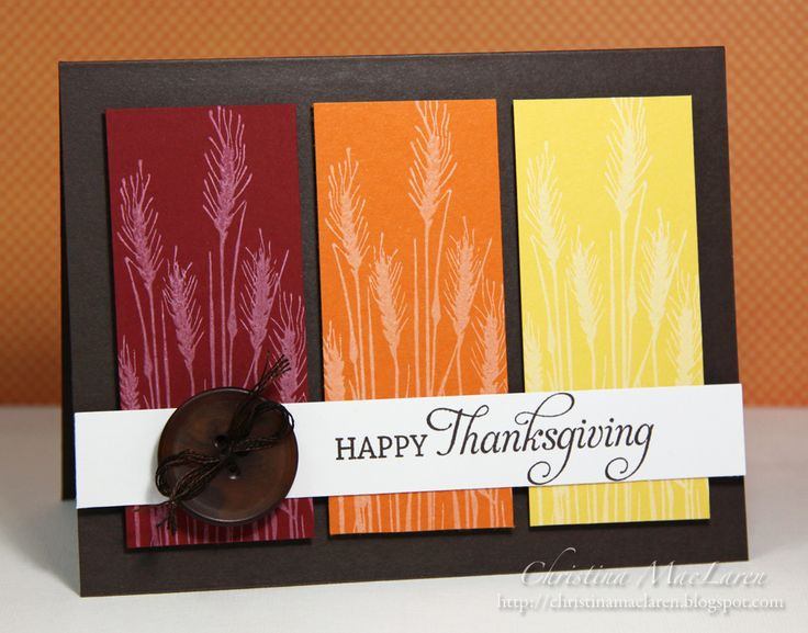 Thanksgiving Card...LOVE the card. OBVIOUSLY not for THANKSGIVING, just may use the idea.......