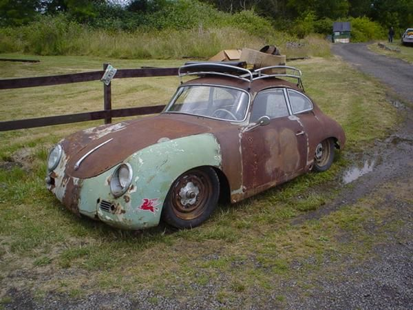 Porsche 356 suffering from metal fatigue