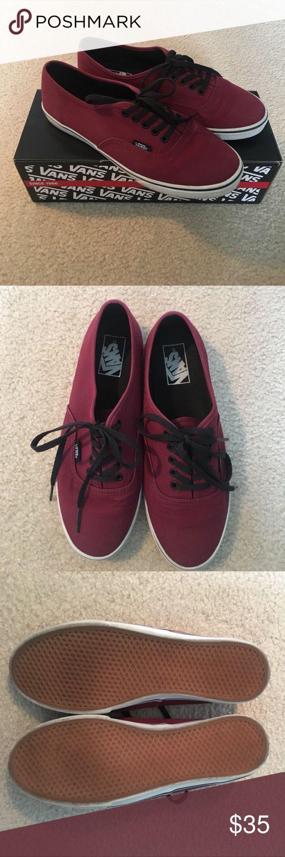 ⚡️Vans Authentic Lo Pro Tawny Port Shoes⚡️ ➳Vans Authentic Lo Pro Skate Shoes in color Tawny Port.                                                                                           ➳Barely worn. Excellent condition.                                      ➳Size Women's 8.5/Men's 7.0 Vans Shoes Sneakers