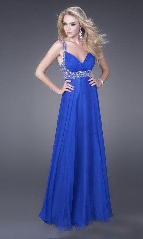 Elegant Attractive Blue Beaded Straps And Waist Chiffon Prom Dress  Now:  $243.99: Blue Chiffon Dresses, Evening Dresses, Dresses Style, Bridesmaid Dresses, Chiffon Prom Dresses, Military Ball Gowns, Ball Dresses, Royals Blue Dresses, Dresses Prom