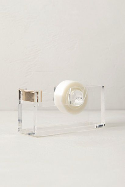 Lucite Desk Collection #anthropologie. Freakin' classiest tape dispenser on the block.