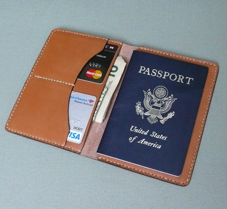 GARNY - Passport Case - Hand Stitched Tan Leather - via Etsy.