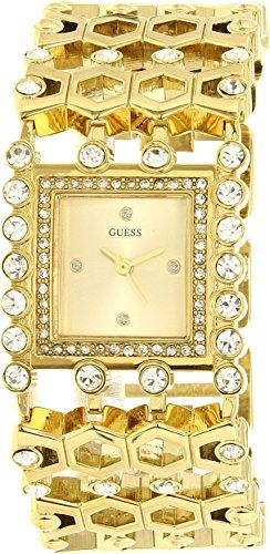 GUESS Women's U0574L2 Gold-Tone Watch with Crystals #HashTag1