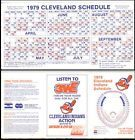 1979 BASEBALL season schedules Phillies Braves A's Indians, Lot of 4 EX - http://oddauctions.net/sports-memorabilia/1979-baseball-season-schedules-phillies-braves-as-indians-lot-of-4-ex/