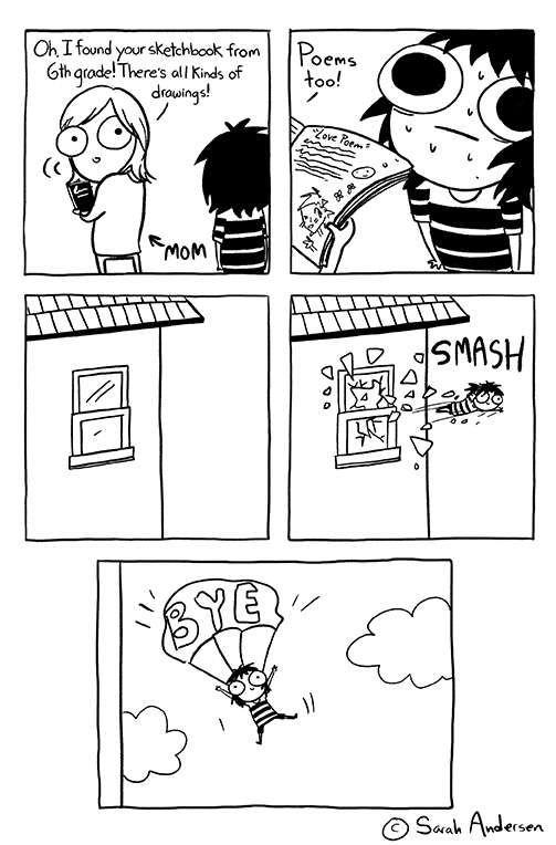 Sarah's Scribbles :: Bye | Tapastic Comics