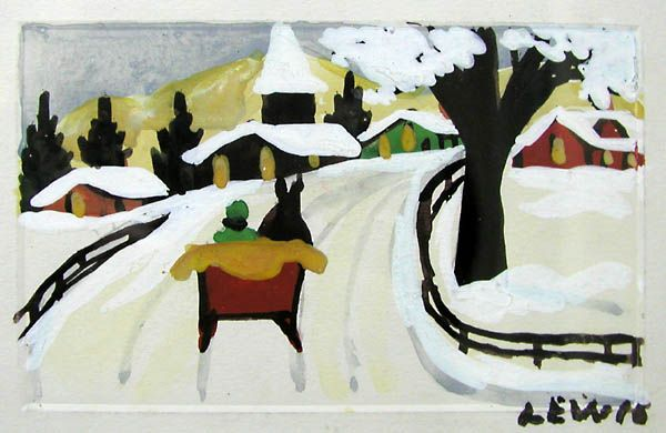 Red Sleigh by Maud Lewis
