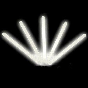 """6"""" Lumistick Glow Stick Light Sticks White (Tube of 25) by Lumistick. $11.99. Contains All White Glow Light Sticks. Glows 8 - 12 Hours; Brand New & Fresh from the Factory. 1 Tube of 25 Standard 6"""" Glow Light Sticks. Great for Halloween, Parties, Bath Tub Fun, Weddings, Bars & More. 25 Removable Connectors with Necklace Strings -- Hang Them Anywhere!. The best brand of glow sticks on the market. You will receive 1 tube of 25 LumiStick luminescent light sticks. Your ..."""