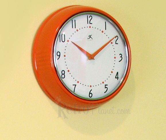 Pin By Kathy Taetsch On This N That Orange Kitchen Retro Clocks Clock