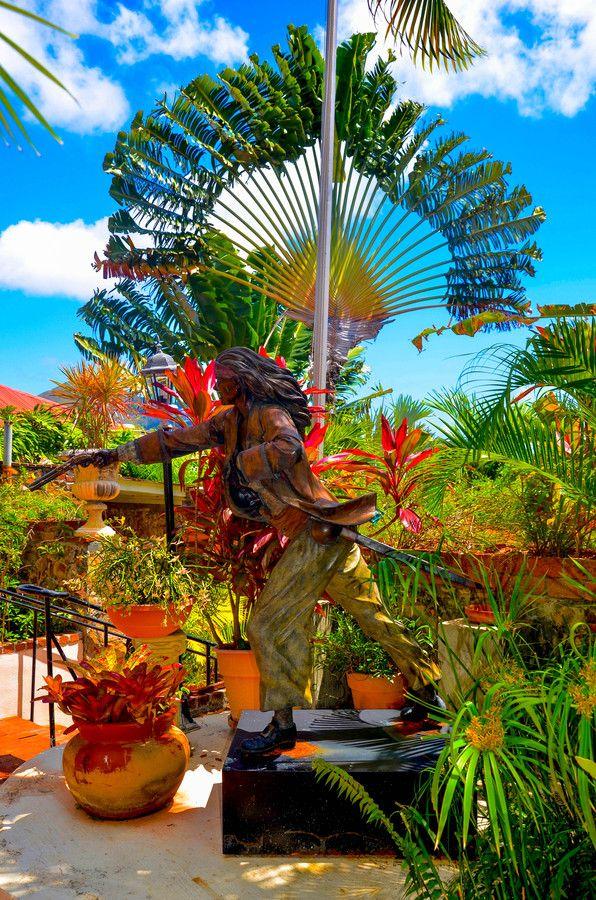 Pirate statue Charlotte Amalie St Thomas US
