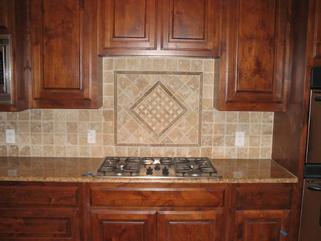 pictures of beige tile backsplash | 4x4 beige tumbled marble