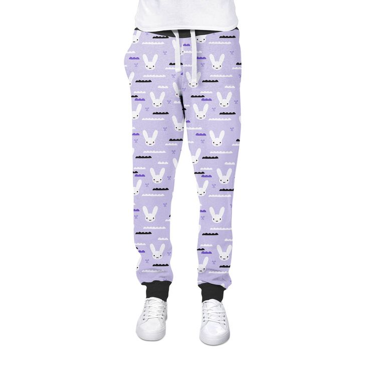 41.99$  Buy here - http://vimad.justgood.pw/vig/item.php?t=698xv1a15206 - Sky Love Bunny Purple Womens Jogging Pants 41.99$