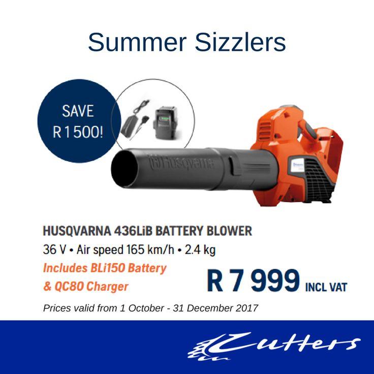 ** Summer Sizzlers ** Husqvarna 436LiB Battery Blower R7 999 incl vat.