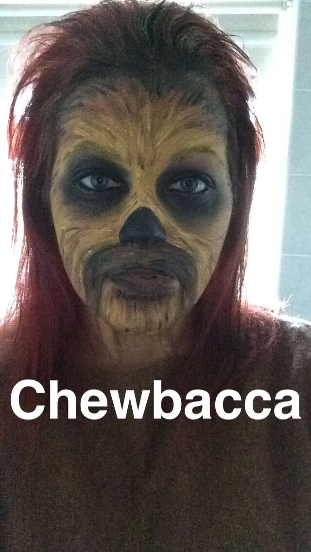Chewbacca face paint star wars