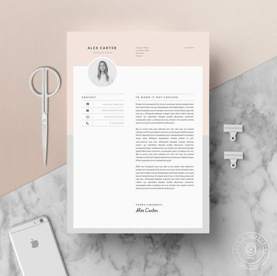Modern Resume Template Cover Letter Icon Set For Microsoft Word 4 Page Pack Professional Cv Instant Download The Scandi Moderner Lebenslauf Lebenslauf Icon Set