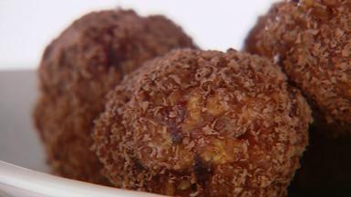 Giada De Laurentiis - Chocolate-Cranberry Treats: no bake cookies
