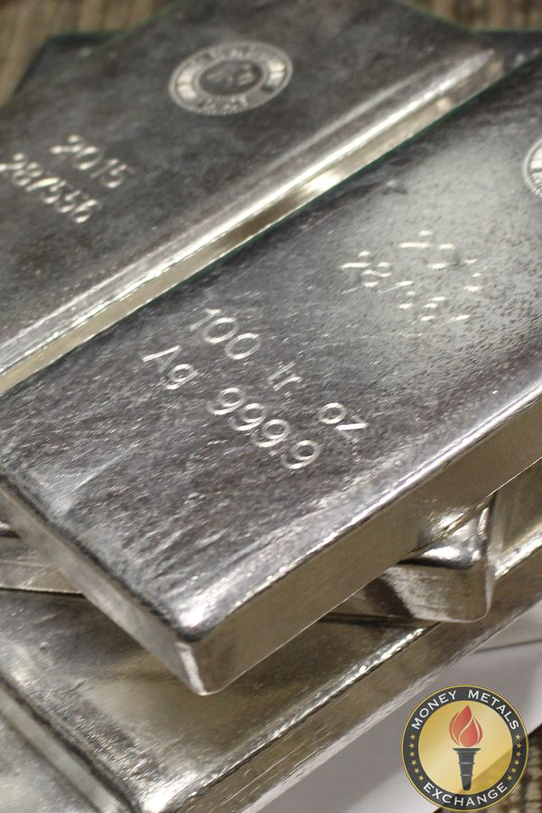 100 Oz Silver Bars For Sale 100 Troy Weight Bullion Money Metals Exchange Llc Silver Bars Silver Bullion Silver