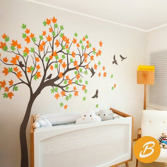 Maple tree wall decal Nursery wall decal Wall sticker for ...
