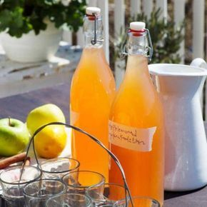 Äppellemonad med kanel & ingefära