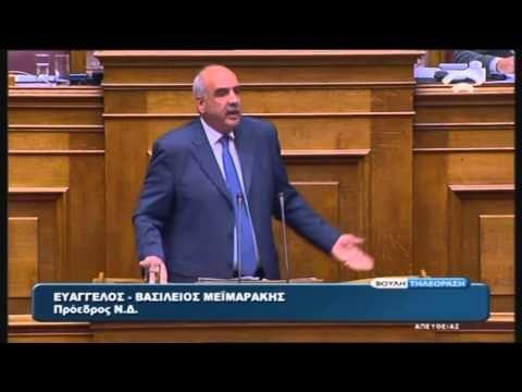 Ε. Μεϊμαράκης (Πρ. ΝΔ) στη συζήτηση για τη Συμφωνία Χρηματοδότησης (14/8...