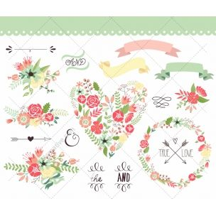 Vintage flowers and Valentine vector pack - consists of various nice decorative vintage motives for Valentine´s day, such as floral heart vector elements, flower wreaths and many more. http://www.123creative.com/holidays-vectors/825-11-vintage-flowers-and-valentine-vectors.html