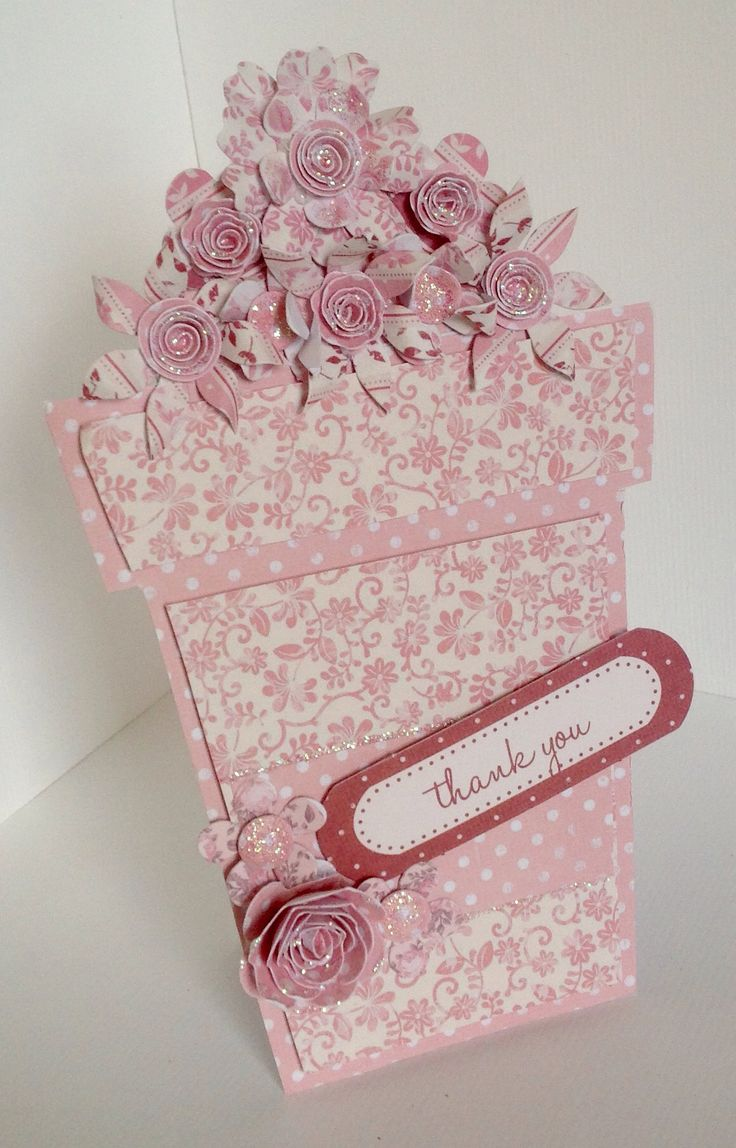 Stunning flower pot card created by Phillipa Lewis using the Rosa collection.
