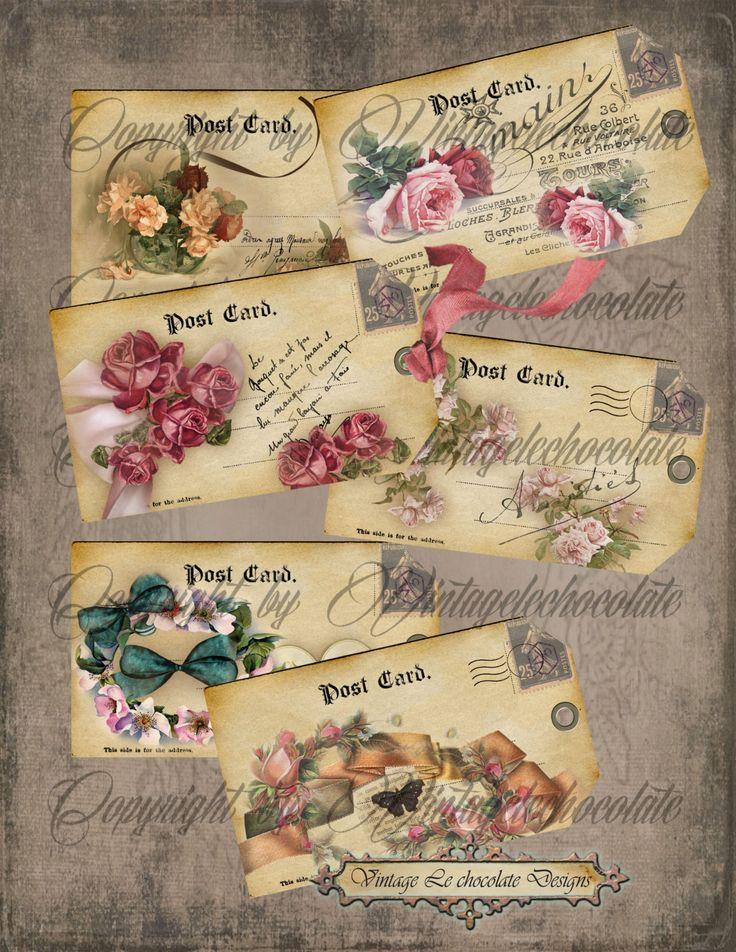Digital cutre rosa etiquetas, Digital rosas Vintage, Shabby, Vintage Collage, álbum de recortes Digital etiquetas. No. 439 de VintageLeChocolate en Etsy https://www.etsy.com/es/listing/151576029/digital-cutre-rosa-etiquetas-digital