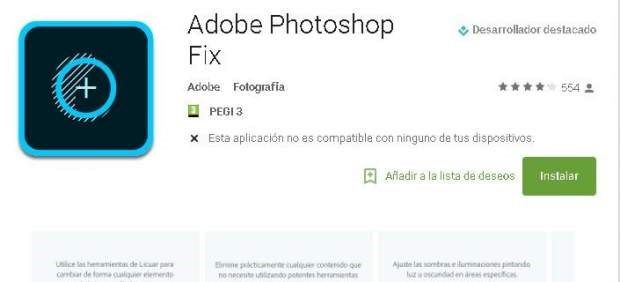 Retocar fotos en tu móvil es posible: llega la versión de Photoshop para Android