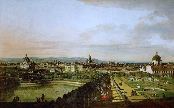 View of Vienna, between 1758 and 1761 by Bernardo Bellotto courtesy Kunsthistorisches Museum, Vienna