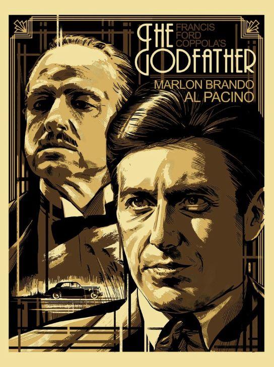 Постер крестный отец в большом разрешении