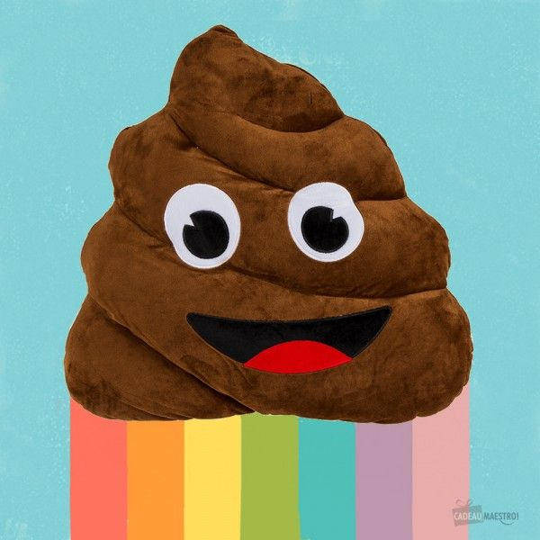 Coussin Emoji Mr Popo 20cm coussin caca #cushion #caca #coussin #poo