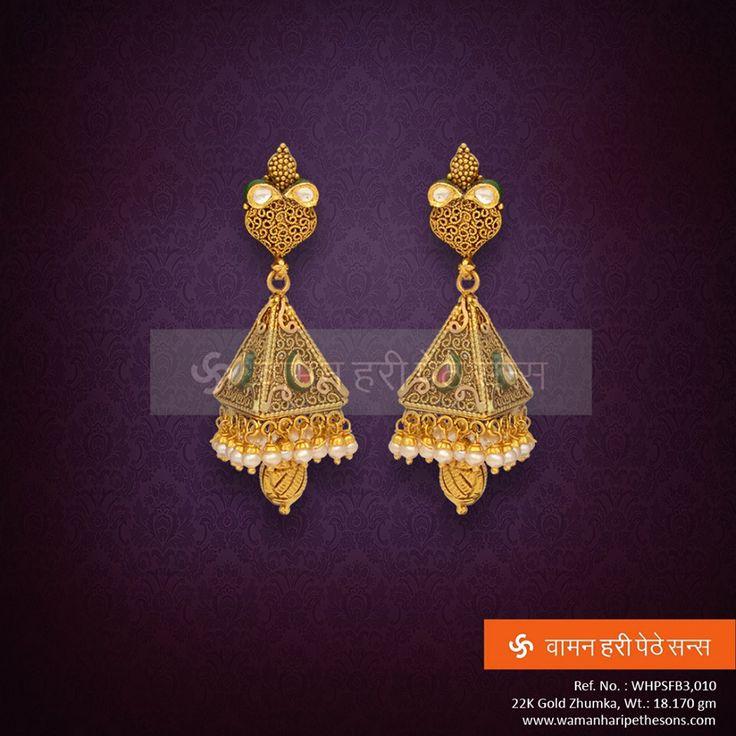 50 best Trendy Earrings Jhumkas images on Pinterest Gold