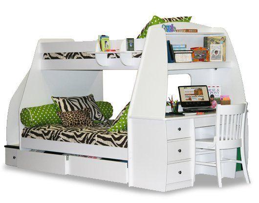 bunk bed desk combo my dream house furniture kinderkamer rh pinterest com