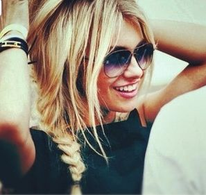 Side braid gorgeousness.