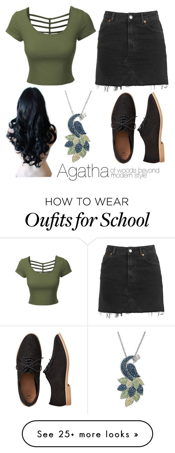 """School For Good And Evil Modern Outfits Agatha"" by hyperducky on Polyvore featuring Topshop, LE3NO, Gap, Artistique, modern, agatha, SGE and Schoolforgoodandevil"