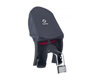 Regnslag til barnestol når cyklen forlades