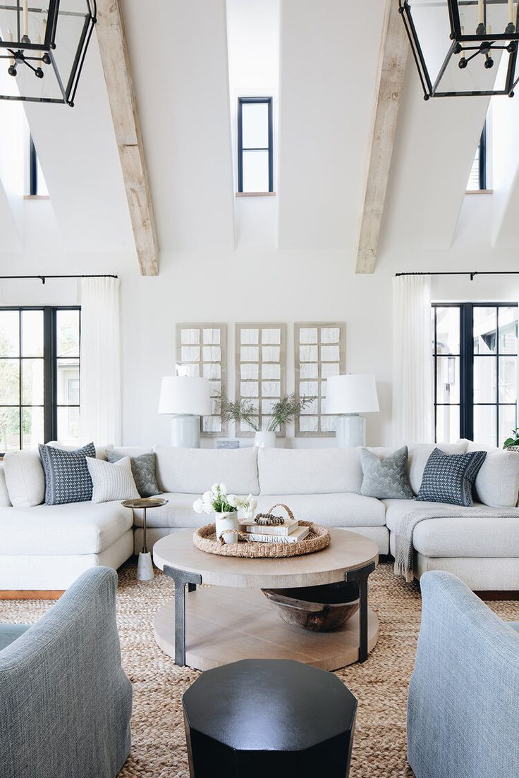 Classic Design Ideas For Very Large Living Room With Vaulted
