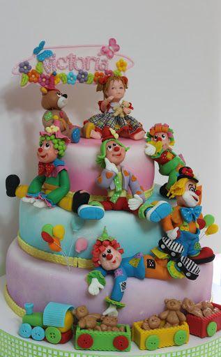 Torturi - Viorica's cakes: Clowni pentru Victoria