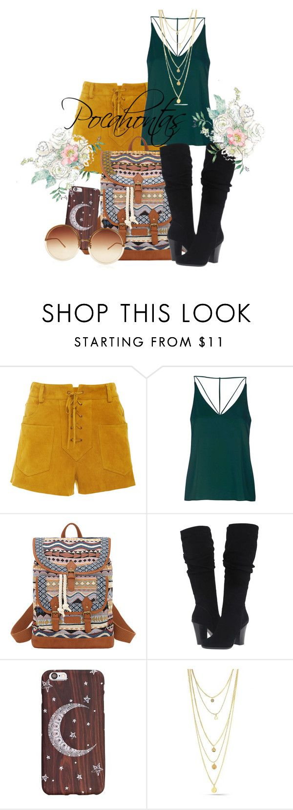 """Pocahontas"" by grraciie-386 on Polyvore featuring Tory Burch, Topshop, Bandana, Steve Madden and Linda Farrow"
